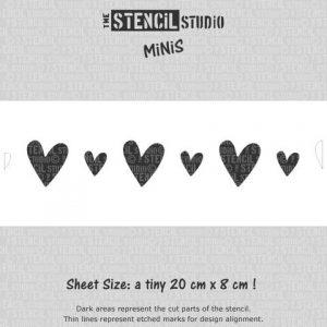 Reusable Stencil MiNiS - Vintage Hearts Stencil