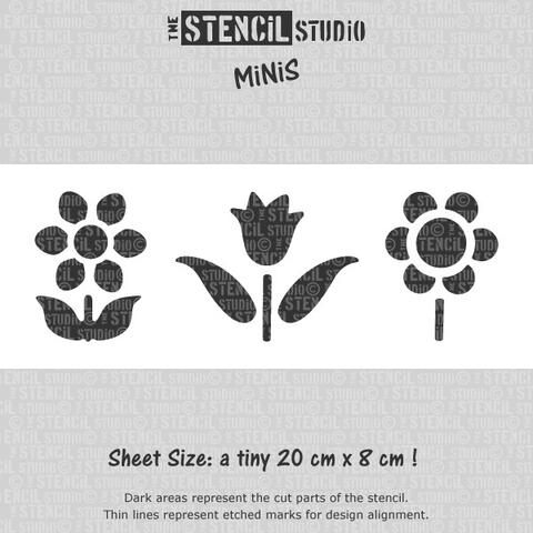 Reusable Stencil MiNiS - Little Flowers Stencil