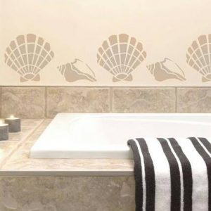 A5 Reusable Shoal Bay Sea Shells Stencil