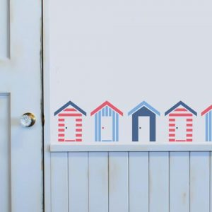 Reusable Southwold Beach Huts Stencil - A5
