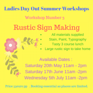 Rustic Sign Making