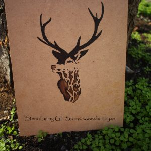 Stag-head-stencil-using-stain-shabby.ie