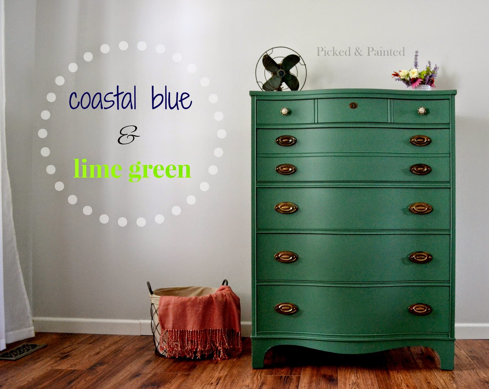 general finishes milk paint lime green coastal blue picked and painted dresser
