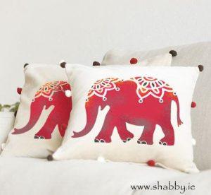 Indian Elephant Stencil A4