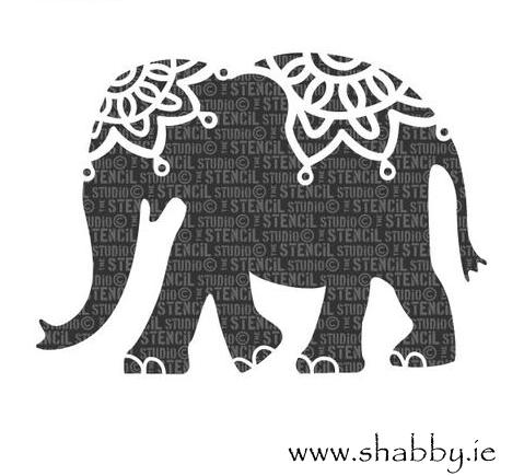 Elephant Stencils Elephant Black And White Decorative