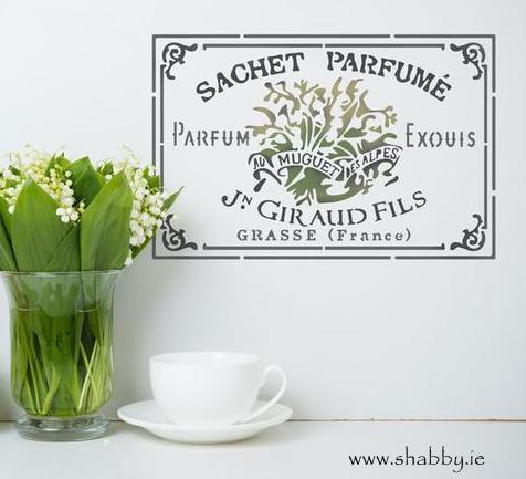 Sachet Parfume Vintage Stencil