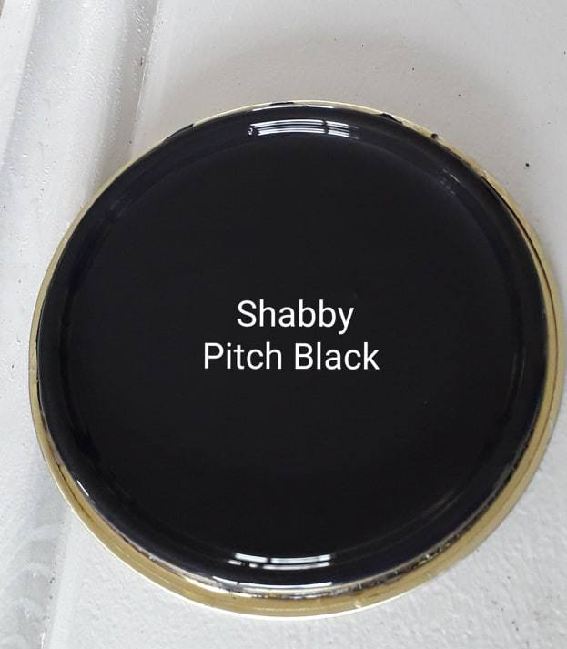 Shabby Pitch Black Furniture Paint